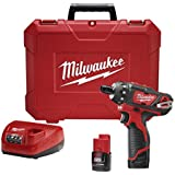 Milwaukee M12 12-Volt Lithium-Ion 1/4 In. Cordless Hex 2 Speed Screwdriver Kit - 2406-22