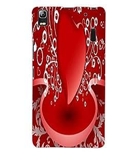 ColourCraft Lovable Heart Design Back Case Cover for LENOVO A7000 PLUS