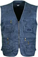 Mens Summer Fishing Hunting Waistcoat With Multipocekts Polycotton Fabric