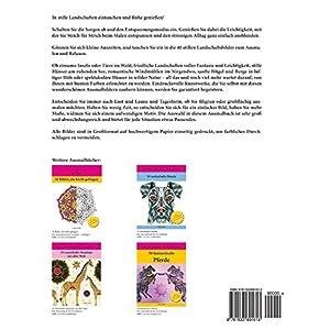 LANDSCHAFTEN - zum Ausmalen und Relaxen: Band 2, Malbuch für Erwachsene