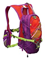 Nathan Zeal 2-Liter Hydration Vest, Purple Cactus Flower/Tangerine Tango, One Size