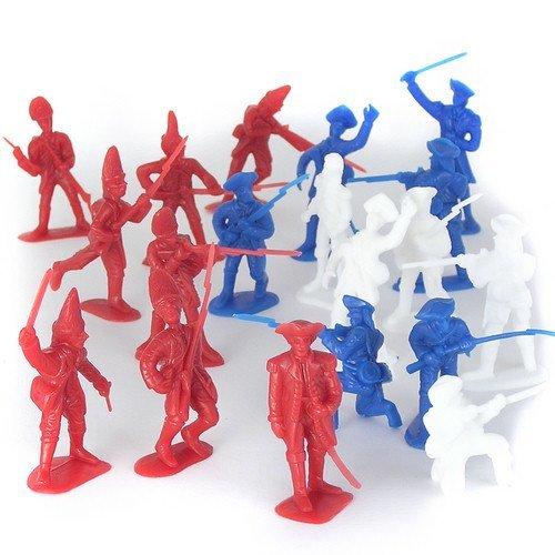 54mm American Revolution Battle of Yorktown Figure Playset (34pcs) (Bagged) Playsets