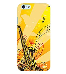 Printvisa Yellow Background Saxophone Back Case Cover for Apple iPhone 6 Plus