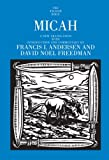 Micah (Anchor Bible) (0385522495) by Andersen, Francis I.