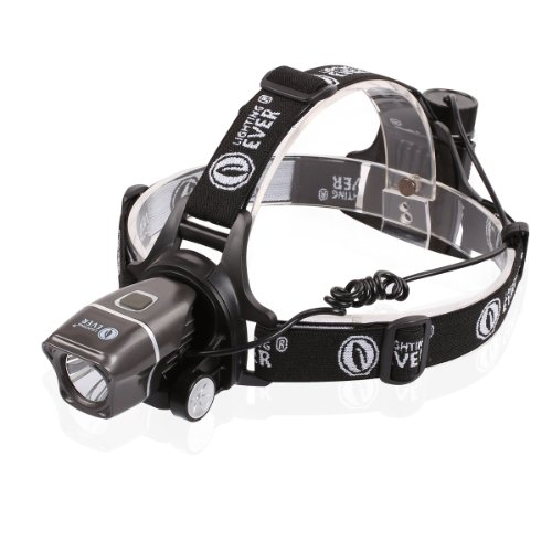 LE 5W CREE Super Bright LED Headlamp, 200lm, 3 Brightness Level Choice, LED Headlamps, 3 AAA Batteries Included