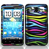 Rainbow Color Zebra Strips Snap on Hard Skin Shell Protector Cover Case for ....
