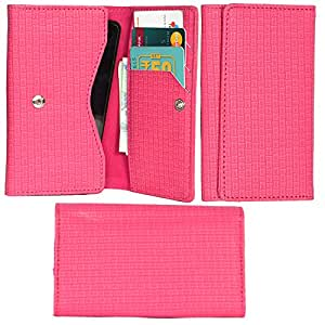 R&A Pu Leather High Quality Wallet Pouch Case Cover With Card Slot & Note Slots,Soft Inner Velvet For HTC Desire Eye