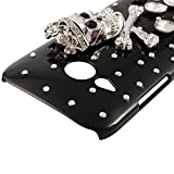 BestCool 1x Rhinestone Crown and Skull Pattern Black PC Case Protection Case Mobile Phone Case for HTC One M8 Mini (HTC One Mini 2)