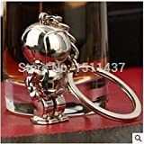 Diamond Perfume Bling Beauty Novelty Trinket Gifts Charm Alloy Space Robot Keychains Keyring Silver Car Key Holder Souvenir Laser Engraving