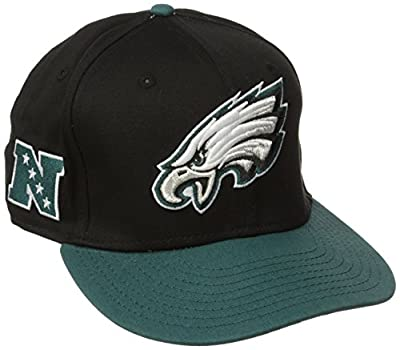Philadelphia Eagles Adult Baycik Snapback Hat - Black