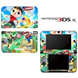 Super Smash Bros Mario Animal Crossing Zelda Kirby Decorative Video Game Decal Cover Skin Protector for Nintendo 3DS XL