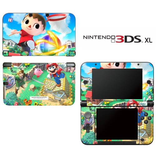 Super Smash Bros Mario Animal Crossing Zelda Kirby Decorative Video Game Decal Cover Skin Protector for Nintendo 3DS XL (Kirby 3ds Xl Decal compare prices)