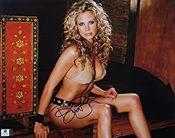 Brooke Burns Signed Autographed 11X14 Photo Sexy Blonde