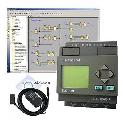PLC Training Kit Hardware & Software Programmable logic controller for 12 or 24vdc w USB interface