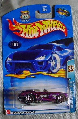 Hot Wheels 2003 Wastelanders 1958 Corvette 3/10 #151 PURPLE Convertible 1:64 Scale - 1