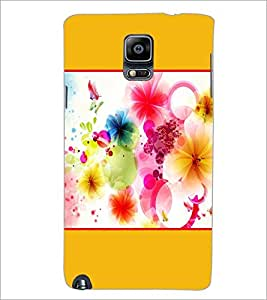 PrintDhaba Colored Flowers D-1429 Back Case Cover for SAMSUNG GALAXY NOTE 3 (Multi-Coloured)