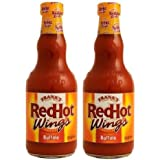 Frank's RedHot Wings: Original Buffalo Wing Sauce (Pack of 2) 12 oz Bottles