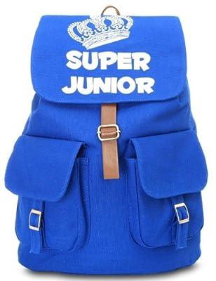 KPOP Backpack Rucksack Canvas Travel Satchel Shoulder Bag School Bookbags (Super Junior)