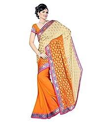 Pushkar Sarees Chiffon Saree (Pushkar Sarees_2_Orange)