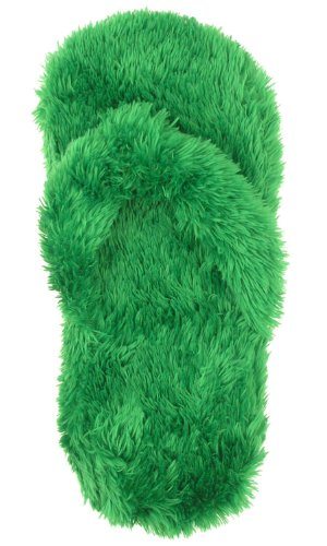 Cheap Capelli New York Teddy Fur Thong And Sock Ladies Indoor Slipper (B004054ZGQ)
