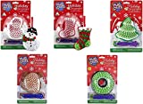 Christmas PlushCraft Ornament Craft Kits 5 Pack Bundle with Snowman, Reindeer, Wreath, Stocking and Tree
