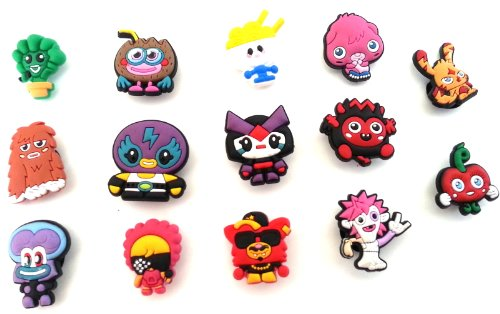 14 Pcs Moshi Monsters Set Of Shoe Charms Buttons front-318097