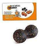 Blackroll Orange Selbstmassagerolle TwinBALL-orange Selbstmassage-Ball inkl. �bungs-Booklet, 8 cm, 8050810 Bild