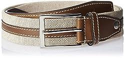 Parx Men's Leather Belt (8907116674762_85_Dark Brown)