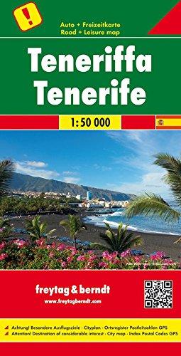 Tenerife, mapa de carreteras. Escala 1:50.000. Freytag & Berndt. (Auto karte)