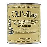 オールドビレッジ バターミルクペイント-CORNER CUPBOARD YELLOWISH WHITE 946ML 13-25