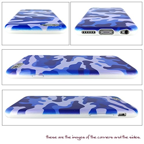 Us-Trendsss TPU Soft Cover Printed Case for Apple iPhone6 Camouflage Blue