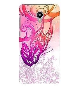 PrintVisa Modern Art 3D Hard Polycarbonate Designer Back Case Cover for Meizu M3
