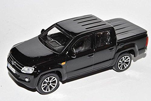 VW-Volkswagen-Amarok-Pick-Up-Schwarz-Ab-2010-143-Bburago-Modell-Auto-mit-individiuellem-Wunschkennzeichen