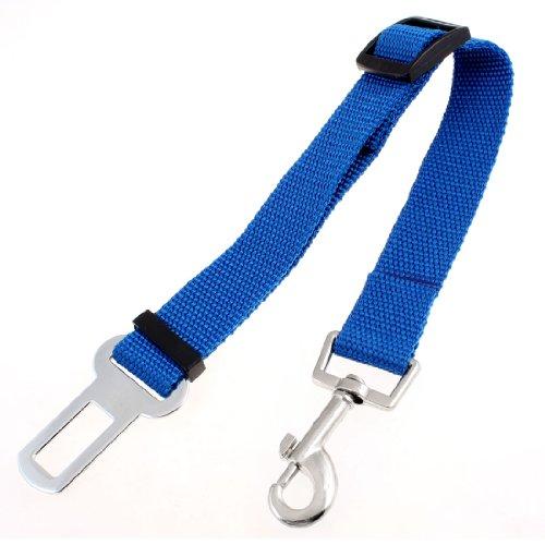 Sourcingmap Sicherheitsgurt für Hunde, für Autositz, mit Karabinerverschluss, verstellbar, aus Nylon, Blau