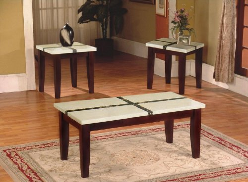 artificial marble top coffee table end table set cheap best price