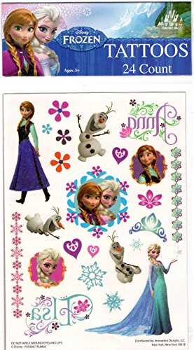 Disney Frozen Tattoos 24 Count Elsa, Anna, Olaf Party Favors