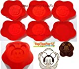 Disney Mickey Mouse Reusable Silicone Muffin Jello Baking Cup Cupcake Mold Set of 6
