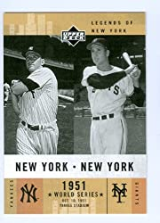 Mickey Mantle & Bobby Thomson 2001 Upper Deck Legends of New York baseball card #157 New York Yankees & New York Giants