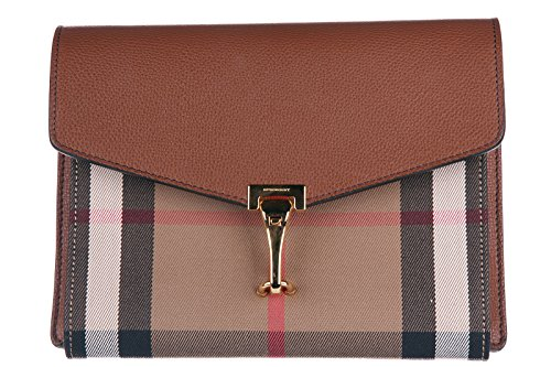 Burberry Small Leather and House Check Crossbody B…