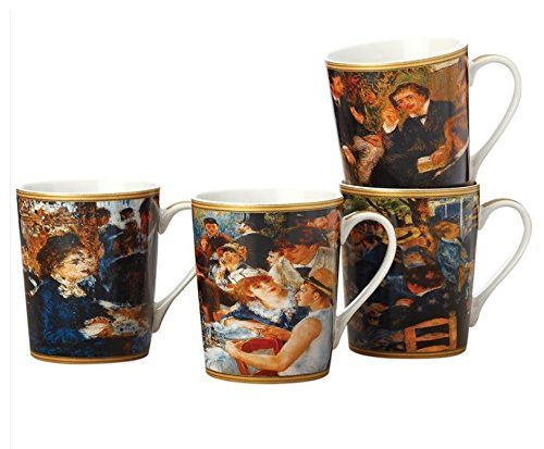 Maxwell and Williams Casa Domani Impressions Set of 4 Mugs, Renoir by Maxwell & Williams