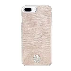 House of Harlow 1960 iPhone 7 Plus Case, Snap Case [Shock Absorbing] fits Apple iPhone 7 Plus - Pink Kraits/Silver Metallic