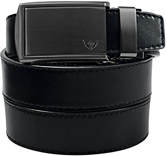 SlideBelt - Winged Gunmetal (Black Leather with Winged Gunmetal Buckle)