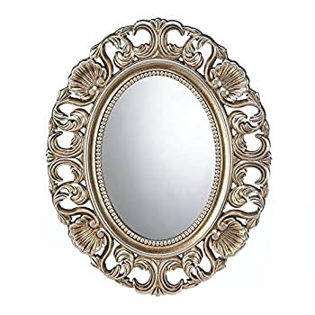 Koehler Home Decorative Gilded Oval Wall Mirror