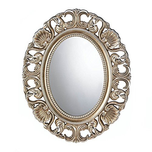 Home Locomotion Gilded Oval Wall Mirror