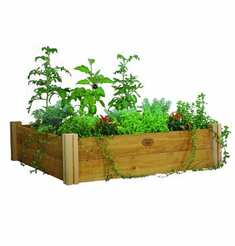 ... 48 inch by 13 inch modular raised garden bed unfinished modular garden