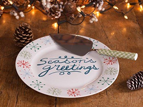 """Creative Tops """"Creative de Noël en porcelaine Assiette à gâteau et couteau à gâteau Serveur Coffret cadeau"""
