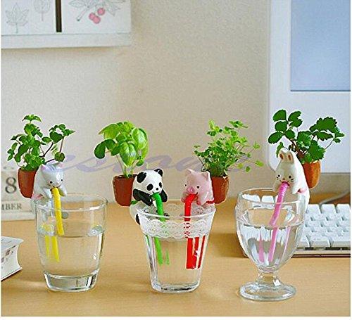 grandey-4pieces-set-ceramic-creature-mini-backpack-plant-pot-chuppon-self-watering-animal-planter-pi