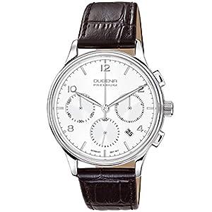 Dugena 7000240 - Reloj de pulsera hombre, piel, color negro