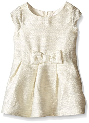 The Children's Place Baby-Girls Short Sleeve Fancy Bow Dress, Cloud, 12-18 Months