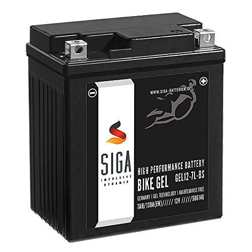 SIGA Bike GEL YTX7L-BS Motorrad Batterie 12V 7Ah 130A/EN Gel12-7L-BS, YTX7L-4, CTX7L-BS